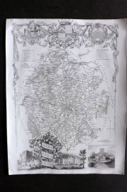 Thomas Moule C1838 Antique Map. Herefordshire